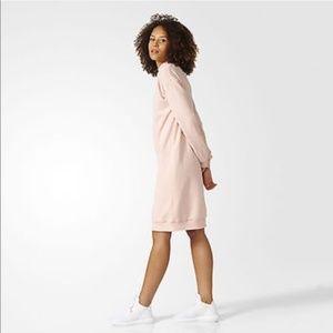 Adidas Pale Pink Sweatshirt Midi Dress